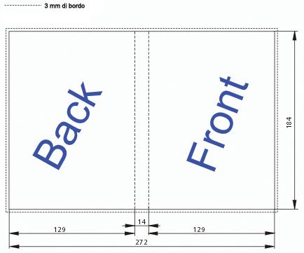 Dimensioni standard di una DVD cover