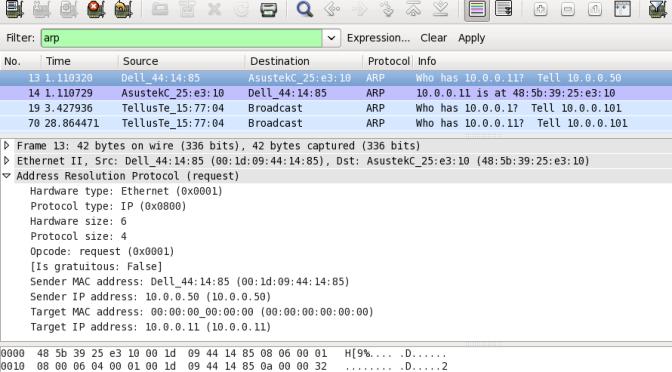 Identificare l'indirizzo IP di un dispositivo con Wireshark